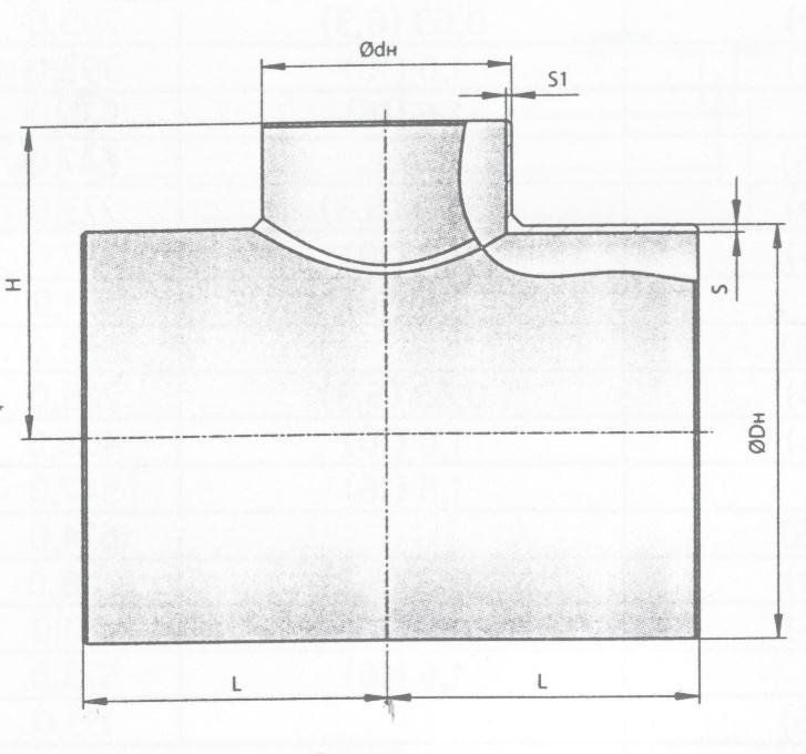 Схема тройника сварного по ОСТ 36-24-77